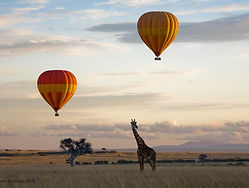 yha kenya travel adventures hot air ballon safari in Masai Mara Kenya.An exciting flight experience.