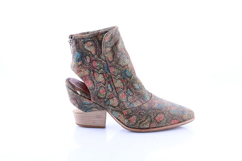 Printed# Dust# Cutout Bootie Sandal