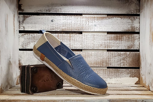 Blue Leather Espadrille#641