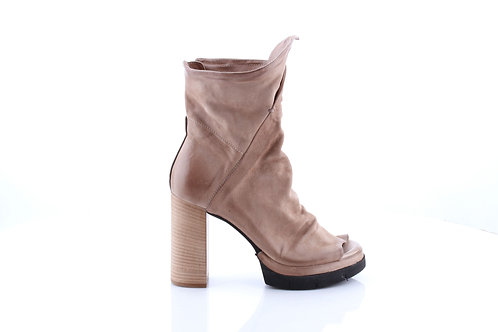 Dust# Ginger# Platform Open Toe Bootie Sandal