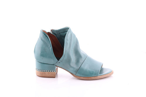 Cloud# Cut-out Ankle Bootie w/ Studded Block Heel