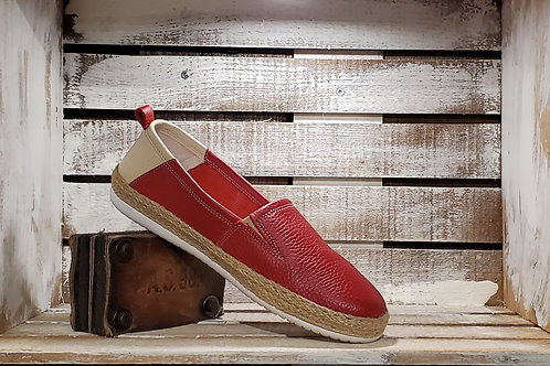 Red Leather Espadrilles#638