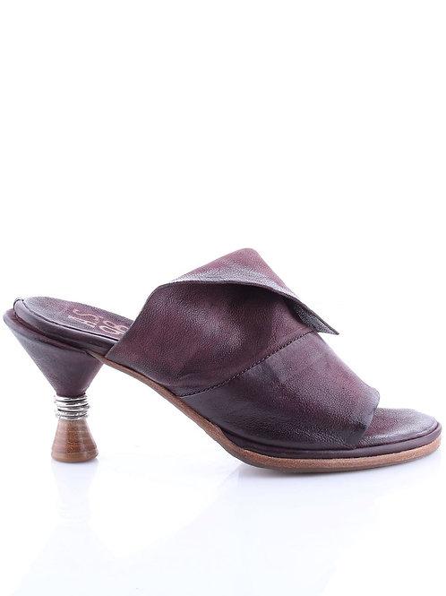 Black# Castello# Liz# Lemo# Lav# Slip-in Sandal w/Metal Wrapped Heel
