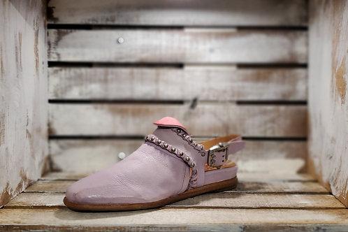 Lavender Studded band Flat Sandal-#586