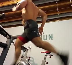 Nathan DeMetz sprinting