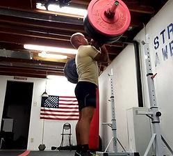 Nathan DeMetz weightlifting