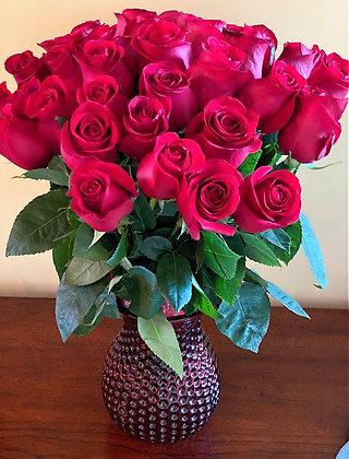 Vase - 35 Roses
