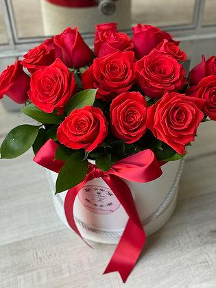Red Roses White Box