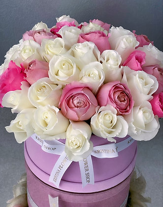 Light Colored Flowers Box