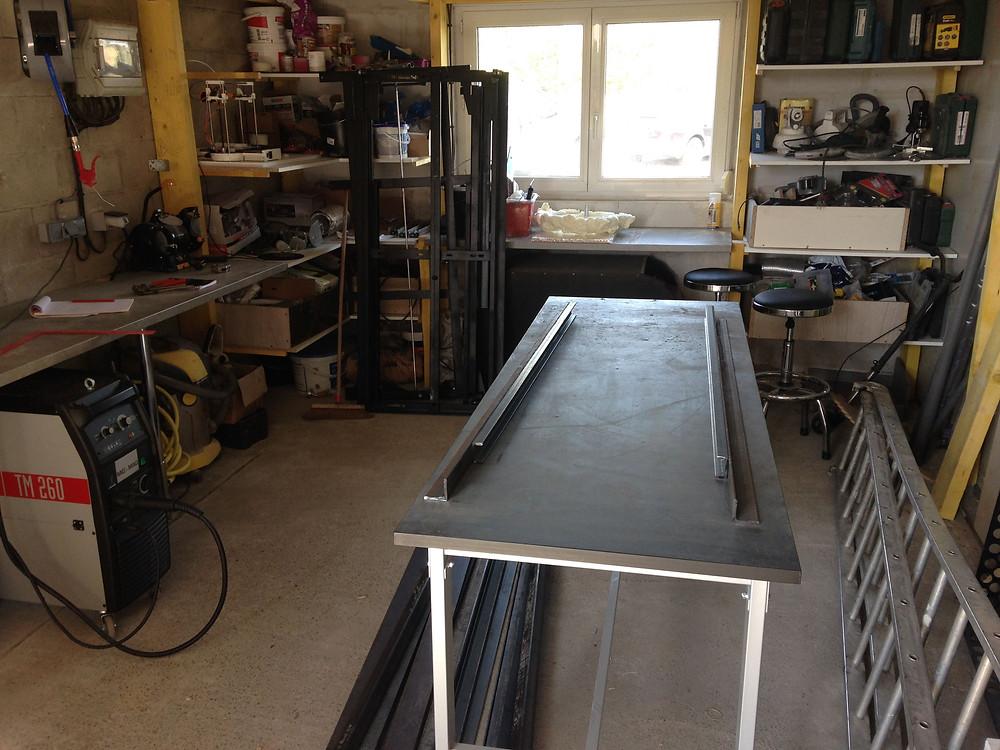 Premiers prototypes de planchers coulissants