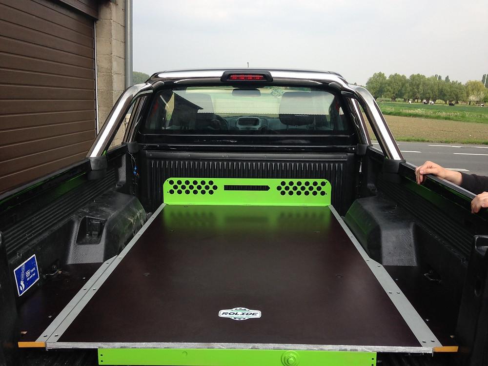 plancher coulissant sur pickup