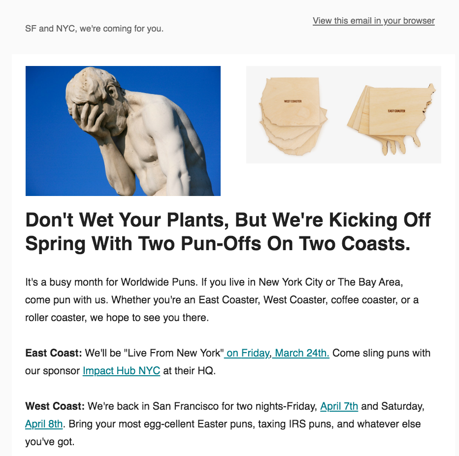 Newsletter for Bay Area Pun-Off
