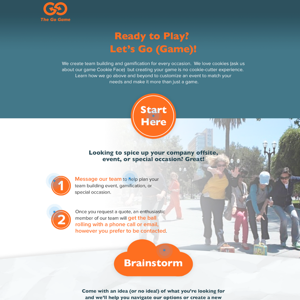 Copy for the Go Game website and marketing materials