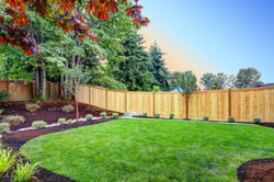 View of an attractive backyard with new