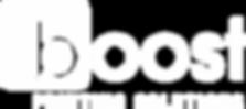 Boost logo white