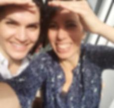 Ainara Martínez Badiola y Gabriela Bossio