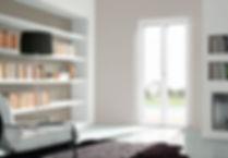 finestre sottili in pvc