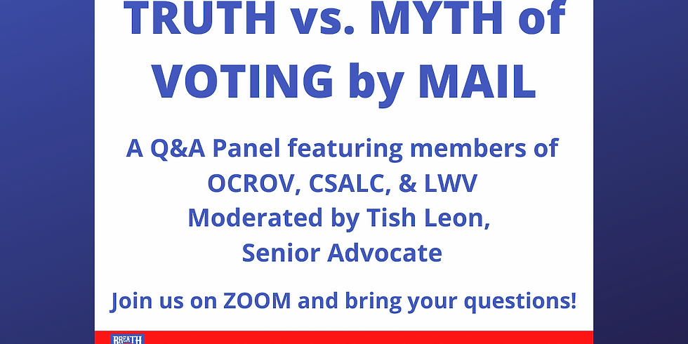 Truth vs. Myth of Voting by Mail, Sat Sept 8 @ 12pm PST