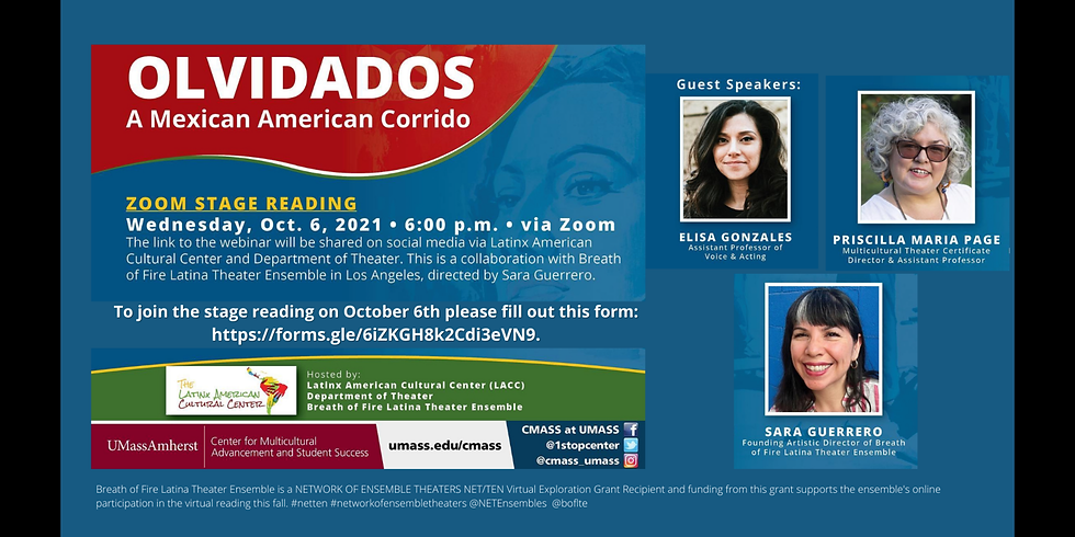 """""""OLVIDADOS: A MEXICAN AMERICAN CORRIDO"""", A virtual reading."""