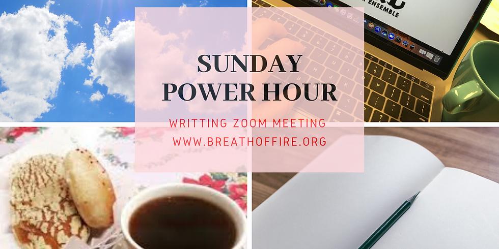 SUNDAY POWER HOUR writing zoom meeting