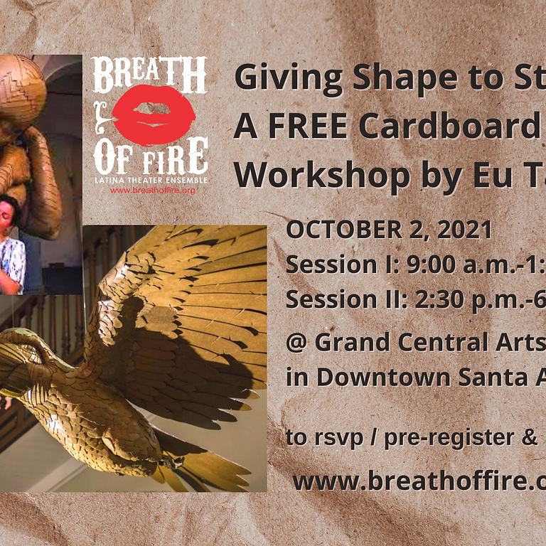 Giving Shape to Stories: A FREE Cardboard Design Workshop by Eu Tazé: Session 1