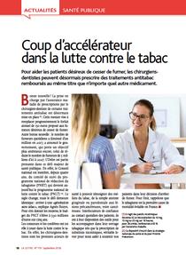 COUP D'ACCÉLÉRATEUR DANS LA LUTTE CONTRE LE TABAC