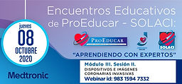 6° Encuentro Educativo ProEducar - Dispositivos e Imágenes Coronarias Invasivas