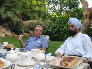 Tea with Amos Oz, Israeli novelist 2009