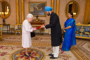 Presenting credentials to Queen Elizabeth the Second   London
