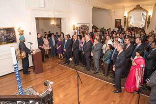 Speaking to the American Jewish community, Indian Embassy, Washington DC, 2017