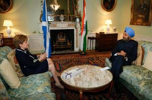 Meeting Nicola Sturgeon, First Minister of Scotland, Edinburgh 2016