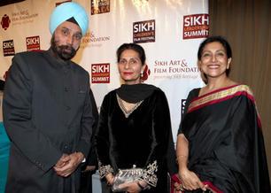 Receiving the Sikh Heritage Award from Maharani Preneet Kaur, at the annual International Sikh Film Festival, New York, 2011