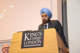 Speaking at King's College London