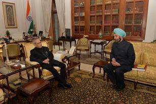 Calling on President Pranab Mukherjee at Rashtrapati Bhavan   New Delhi