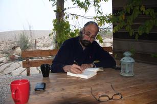 Writing in the Negev desert - 2011