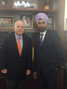 With Sen. John McCain