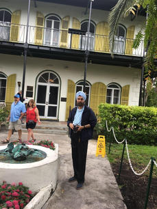 At the home of Ernest Hemingway, Key West 2018