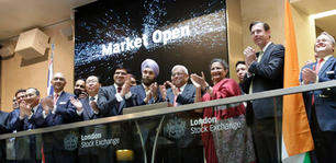 At the Opening Bell, London Stock Exchange