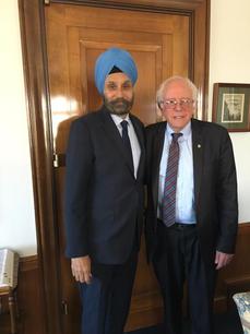 With Sen. Bernie Sanders