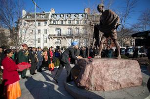 Paying homage to Mahatma Gandhi, Washington DC, Republic Day, 2018