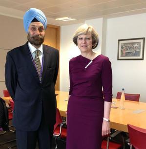 Meeting Theresa May, then Home Secretary, London 2016
