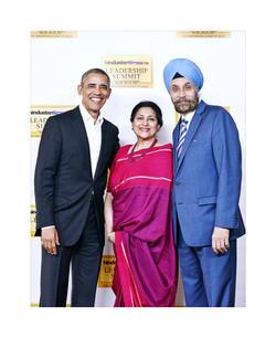 With President Barack Obama   New Delhi 2017