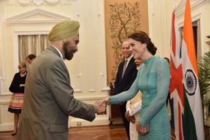 Being presented to Duke and Duchess of Cambridge and PM Modi, Hyderabad House, April 2016