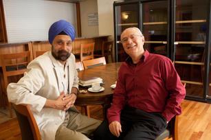With Israeli novelist Eli Amir, Jerusalem 2012