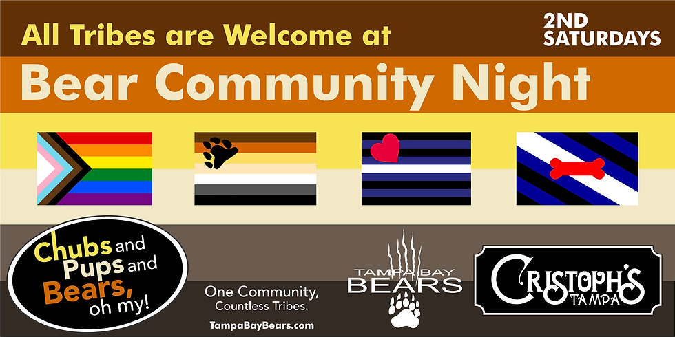 Bear Community+ Night @ Cristoph's 2nd Saturday