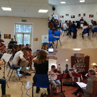 prove con l'Orchestra Filarmonica Puglie