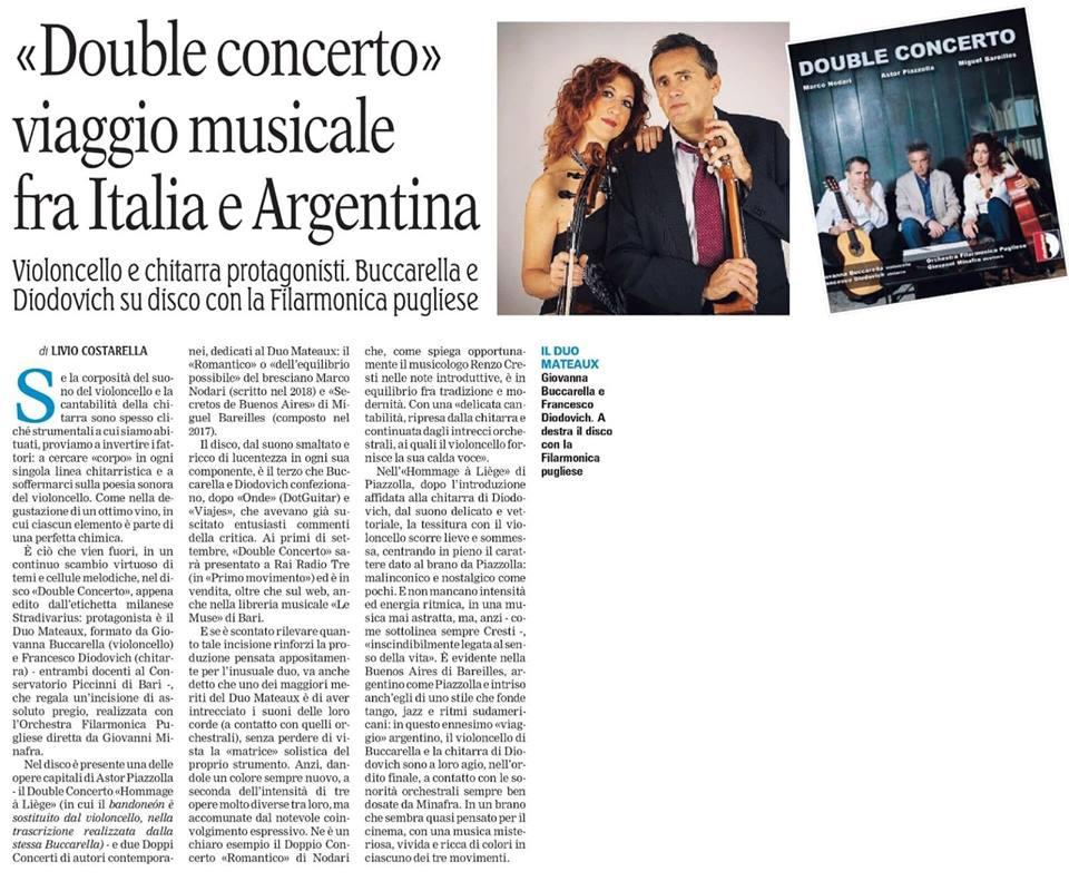 CD Double Concerto - La Gazzetta del mez