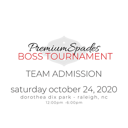 TEAM Tournament Admission -Dorothea Dix Park