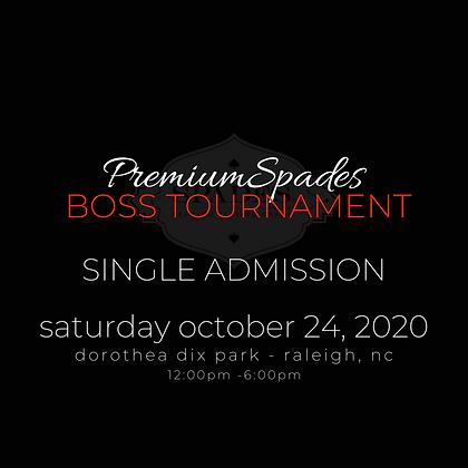SINGLE Tournament Admission -Dorothea Dix Park