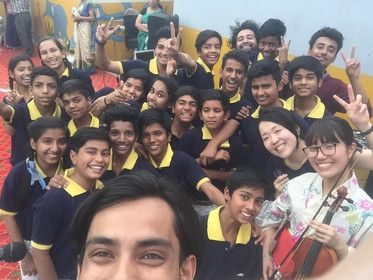 Akane visits in India with Chizai
